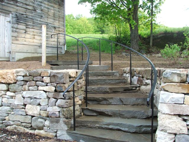 Stair Railing Vt Exterior Curved Custom Interior Pictures